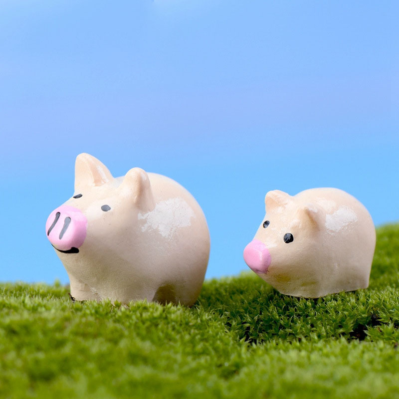 Home Decor Figurines & Miniatures New Wholesale 10pcs/lot 5pairs Mini Pig Mother Child Micro Landscaping Decoration Plastic Craft Diy Sand Table Accessories K6725