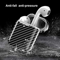 Carbon Fiber Hardshell Case Protection Box Compatible with Apple Airpods 2 WIF66