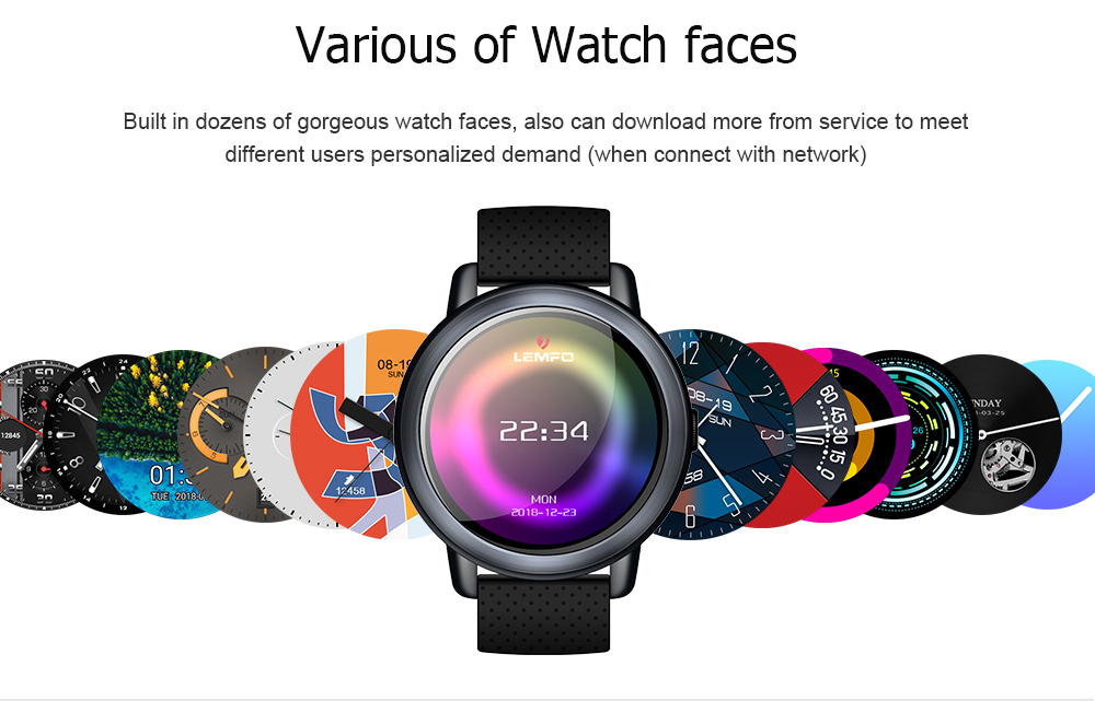 LEMFO LEM8 Pro 4G Android Unisex Smart Watch For With GPS 2MP Camera And 1.39 Inch AMOLED Screen 12
