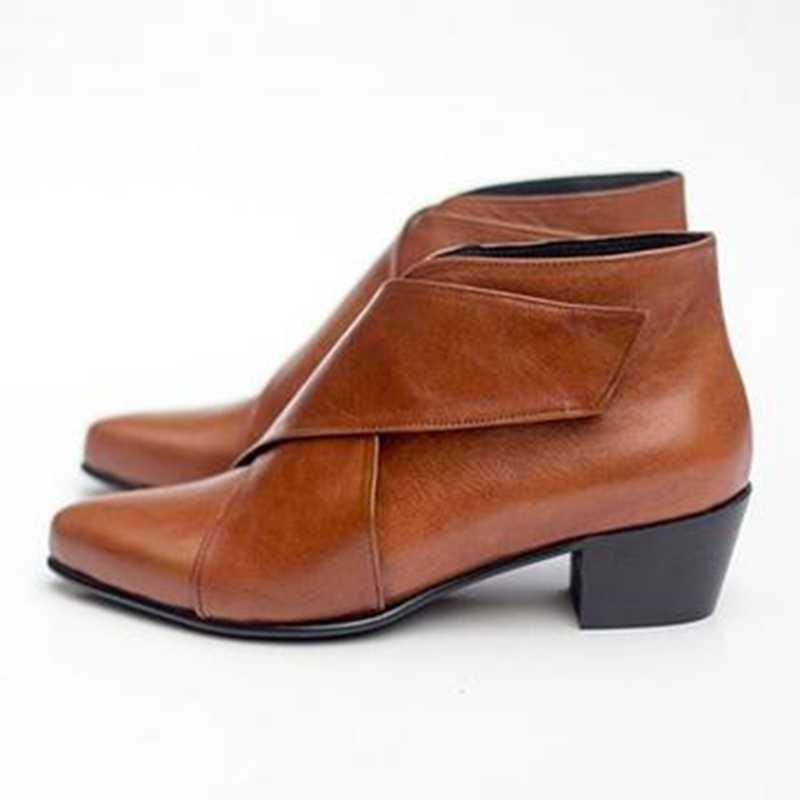 Vrouwen Fashion Casual Enkellaars Wiggen Platform Lente Vrouwelijke Hoge Hak Toenemende Schoenen Dames Elastische Footwear Plus Size