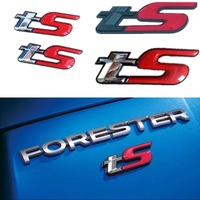 3D TS Emblem Badge Sticker Excellent Smooth Glossy Badge Car Styling Accessories For Subaru Forester BRZ
