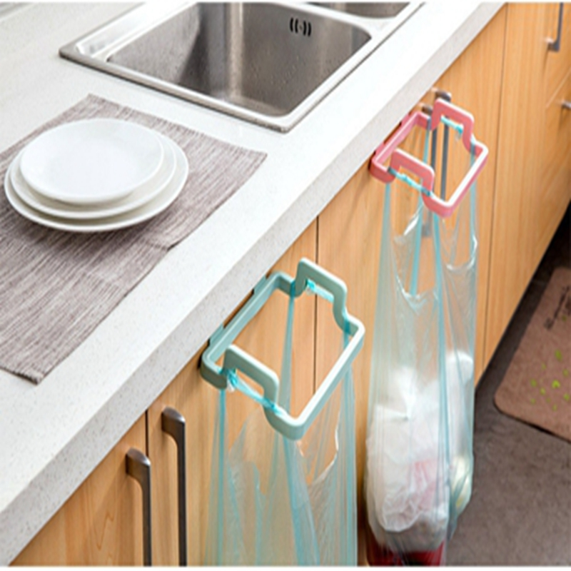 Kitchen Gadgets Accessories Garbage Bags Rack Kitchen Trash Bag Holder For Cabinet Cupboard Drawer Back Door Hook Hangers