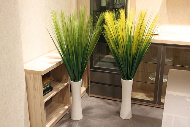 120cm diy 3 pcs high artificial flowers fake plants large floor