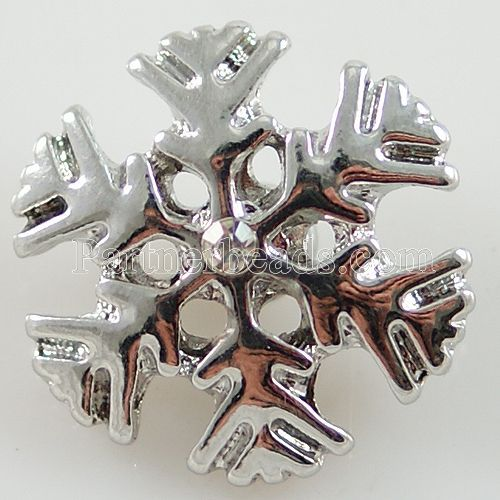 20MM New Arrival Christmas Partnerbeads Metal Snap Jewelry Snow Flower Button Snap Bangles Free Shipping KB8061