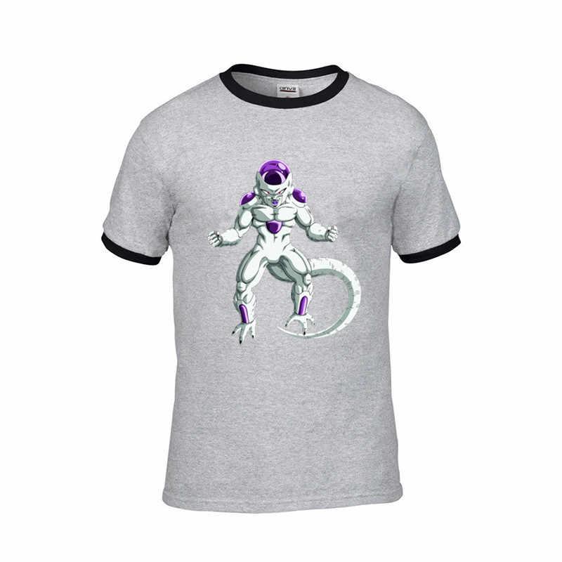 2019 streetwear Ornamentado Freeza DRAGON BALL Z jogo dos tronos jogo engraçado T-Shirt Dos Homens harajuku impressão DIY camiseta masculina orange t camisa