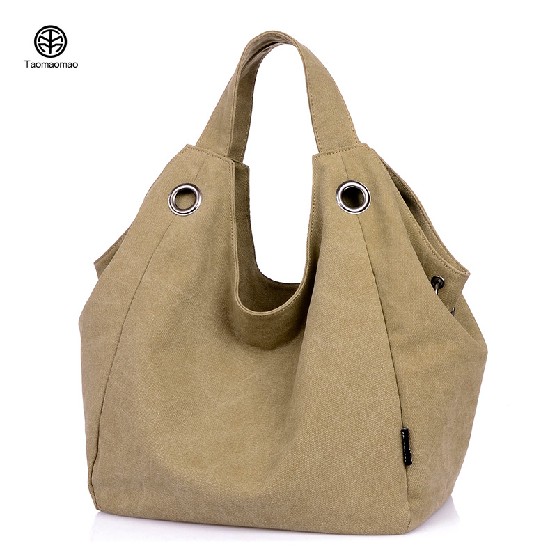 Fashion Big Women Canvas Bag Solid color Ladies Shoulder Handbags Women Famous Brands Large Captain Casual Tote Bags Quality Sac fashion patchwork trapeze bags handbags women famous brands women crossbody bag smile face ladies hand bags new big capacity sac