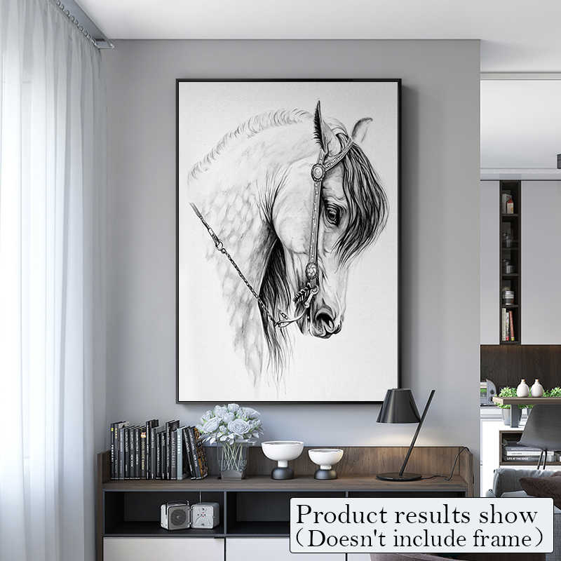 Wow! Nordic Style HD War Horse Canvas Painting Posters And Prints Wall Pictures For Living Room Modern Home Decor Wall Art ZY034