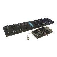 BTC HM65 добыча доска DDR3 памяти M.2 SSD SATA RJ45 сети Поддержка HDMI HD выход материнская плата 8 PCIE графика карты