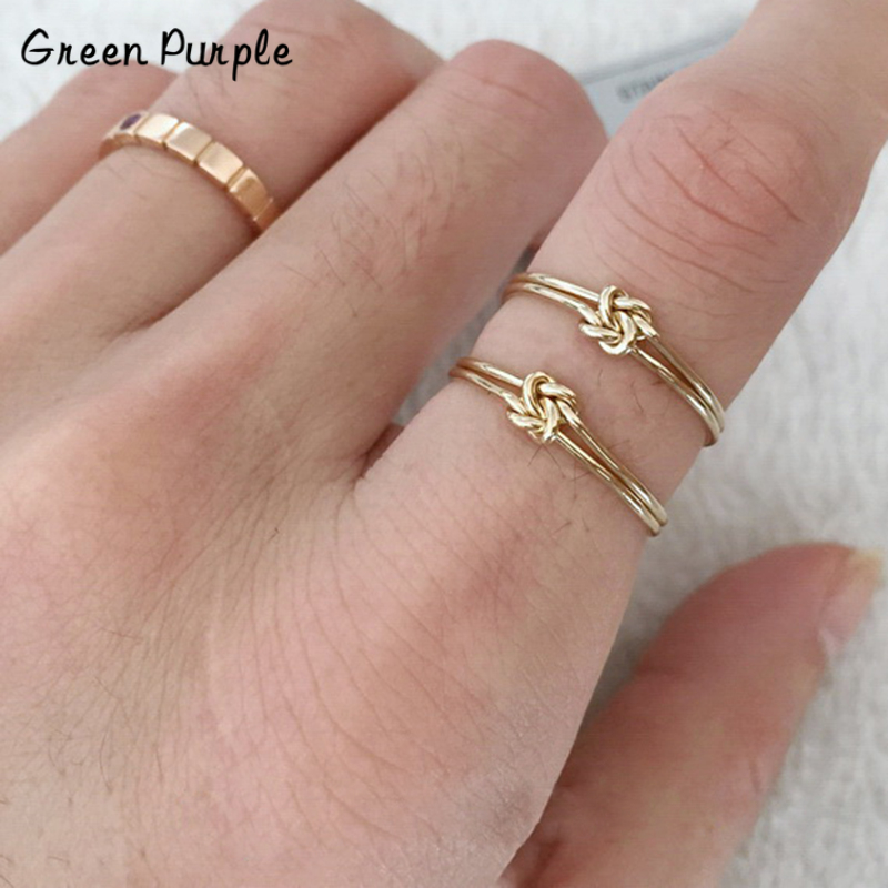 Knuckle Knot Rings Gold Jewelry Ladies Ring Anillos Mujer Boho Bague Femme Minimalism Anelli Aneis Gold Rings For Women