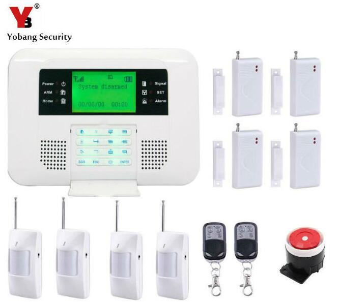 Yobang Security- 433Mhz Wireless Home Alarm GSM PSTN Alarm System LCD Smart Dislay Touch Keypad Home Burglar Security Alarm 433mhz wireless keypad wireless siren led touch screen gs g90b wireless gsm wifi gprs burglar home security alarm system