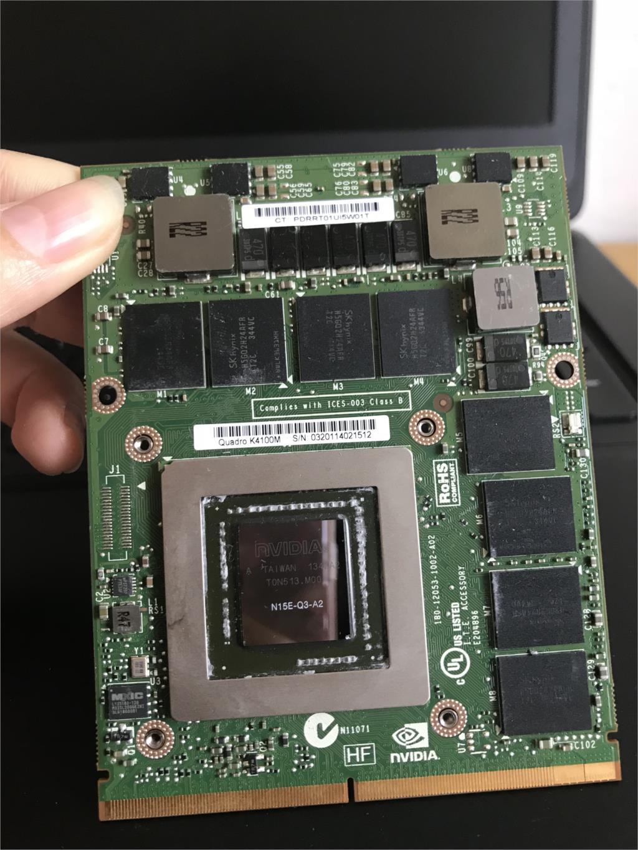 Quadro K3100M 4 GO GDDR5 MXM3.0b Carte VGA N15E-Q1 XJPPG 0 XJPPG CN-0XJPPG pour M4600 M4700 M6600 M6700 Ordinateur Portable