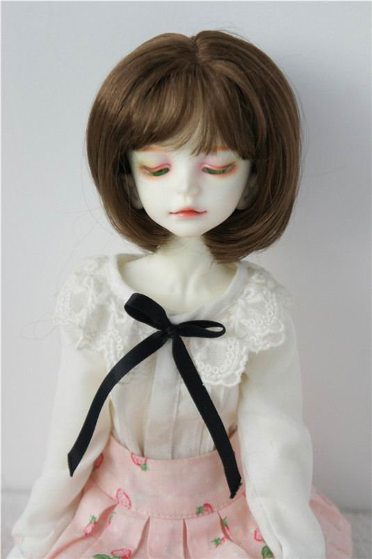 JD286 1/4 MSD synthetic mohair doll wigs Lovely 18-20cm short Bobo Cut Air bangs BJD wig 7-8inch head size wig 1 3 1 4 bjd wigs hot sell bjd sd short curly wig for diy dollfie mohair like