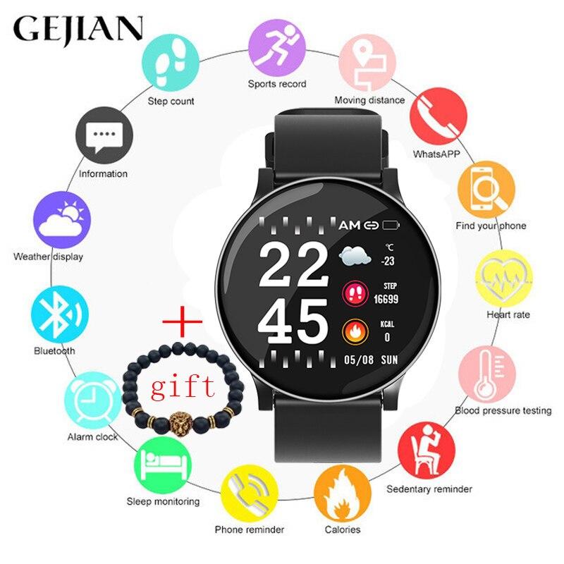 GEJIAN montre intelligente hommes femmes étanche santé surveillance de fréquence cardiaque Mode multi-sports gravité détection Bluetooth OTA mise à niveau