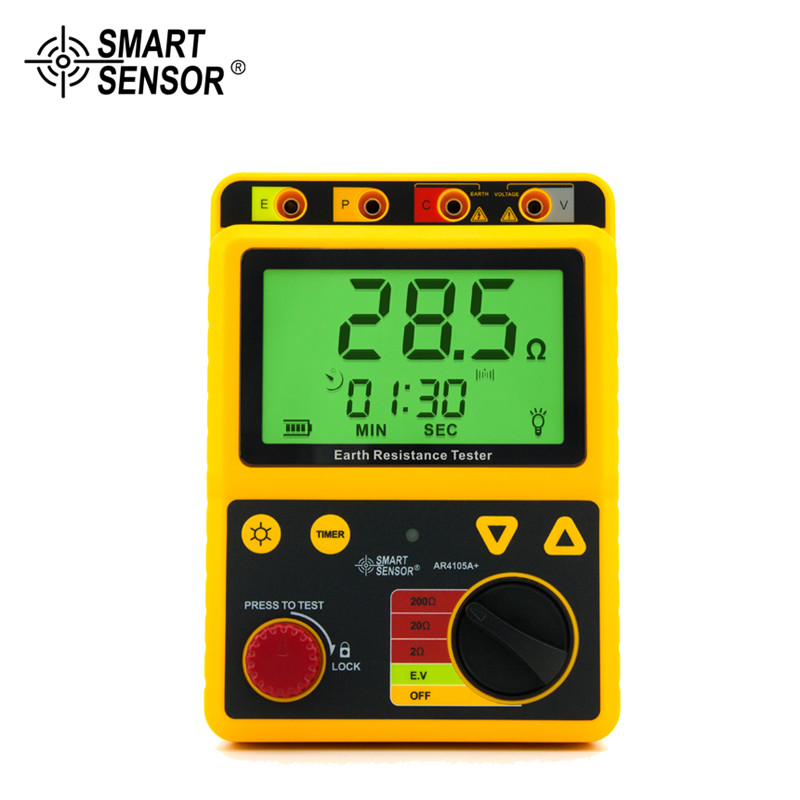 AR4105A Portable Earth Resistance Tester 2ohm/20ohm/200ohm earth resistance tester se ar4105a se ar910a