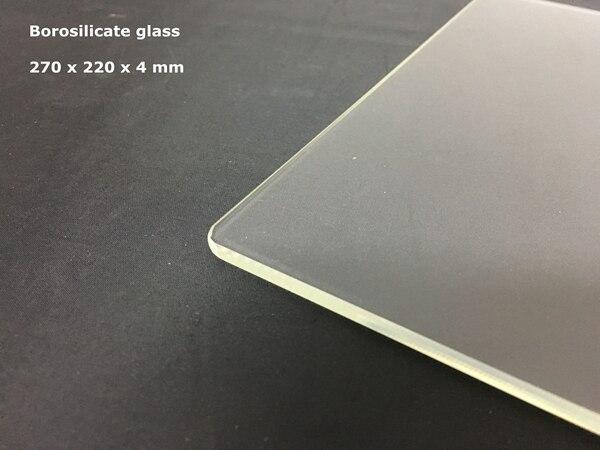 Anet E10 Borosilicate Glass 270 x 220 x 4 mm Build Printer Plate 3d printer Anet E10 3D Printer Parts & Accessories     - title=