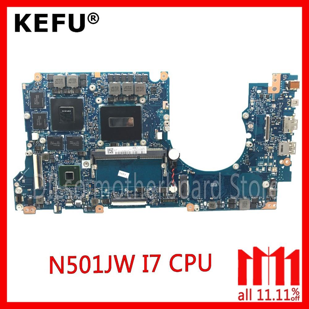 N501J carte mère Pour ASUS N501JW UX501J G501J UX50JW FX60J mère d'ordinateur portable N501JW carte mère rev2.1 I7 cpu PM