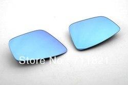 Niebieskie przyciemniane boczne szkło lustrzane ze wsparciem cieplnym dla Volkswagen Polo 6R
