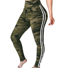 цена на Camouflage Side Striped Knitted Casual Pants Women Pants Sexy Slim Sporty Trousers Autumn Fashion Female Sweatpants
