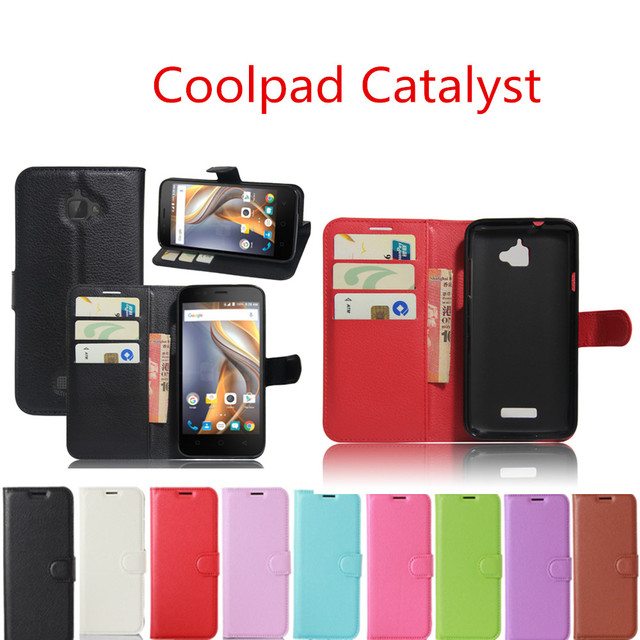 For Coolpad Catalyst 3623A Case Wallet Style Fundas PU Leather Mobile Phone Protective Back Cover For Coolpad Catalyst 3622A