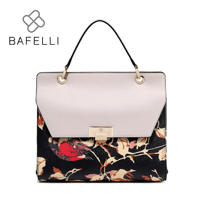 BAFELLI split leather large capacity shoulder bag chinese style luxury handbag hot sale Beige bolsa feminina women messenger bag