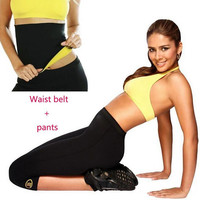 Pant Belt Super Stretch Neoprene Shapers Sports Capri Anti Cellulite Pants Set Waist Training Corsets Women