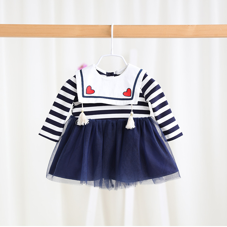 Brand New 2017 Baby Girl Spring Cotton Striped TUTU Dress Girls Infant Princess Dresses Clothes Newborns Wear