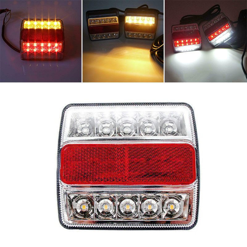 95*111*40mm Car Tail Lights Replacement Accessory Tool Truck Rear ABS Plastic + LED Submersible 1pcs(China)