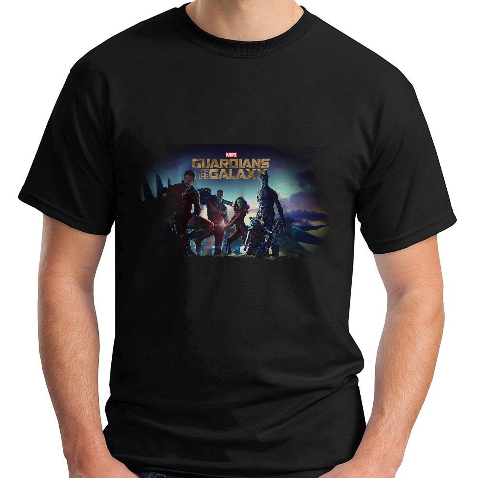 New Guardians Of The Galaxy Short Sleeve Mens Black T-Shirt Size S-5XL Summer Short Sleeves Cotton Fashion t Shirt