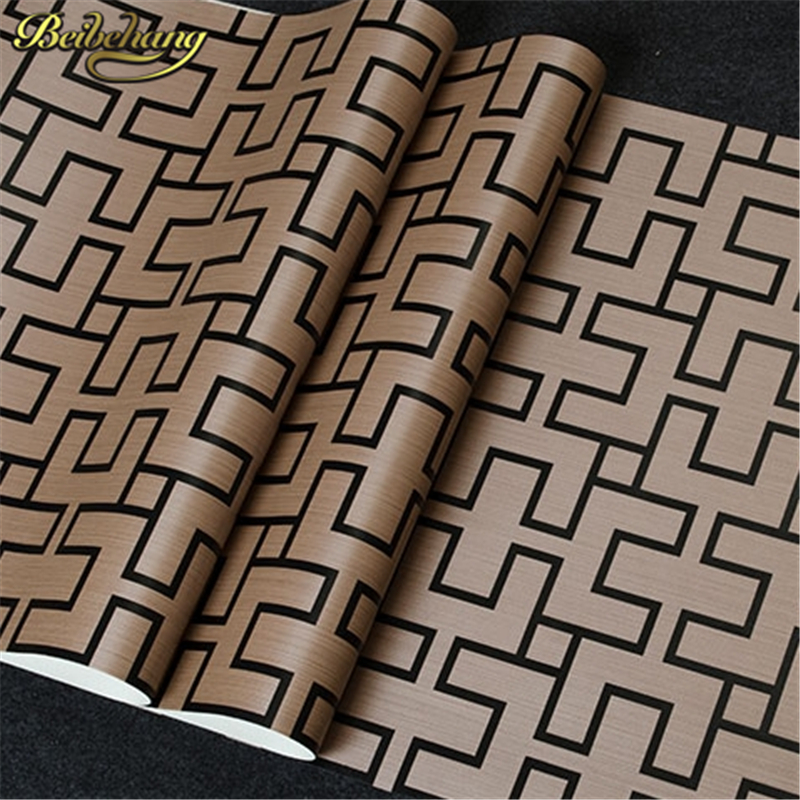 beibehang Exquisite Wallpaper for walls 3 d Vintage Stencilling geometry Plaid Wall Paper Roll For TV Background papel de parede beibehang papel de parede 3d drag wallpaper for walls decor embossed 3d wall paper roll bedroom living room sofa tv background