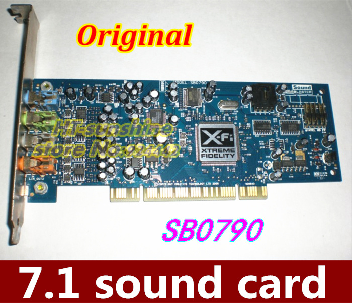 Original 5PCS Sound Blaster SB0790 X-Fi Xtreme Audio 7.1 Channel PCI Sound Card for Creative Desktop queenway amplifier new creative labs sound blaster external sound card for net karaoke x fi surround pro 5 1 usb d a converter
