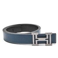 H diseñador de marca de lujo cinturones para hombres Cuero auténtico mujeres masculinas ocasionales Vaqueros moda vintage de alta calidad cinturón de correa