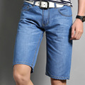 Summer Men's Jeans Shorts Denim Lightweight Thin Causal Light Blue Straight Regular Fit Denim Short for Men masculino homme