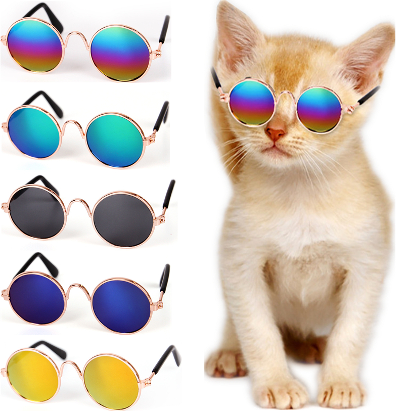 Fashion Glasses Small Pet Dogs Cat Glasses Sunglasses Eye-wear Protection Pet Cool Glasses Pet Photos Props Dropshipping 40sp5