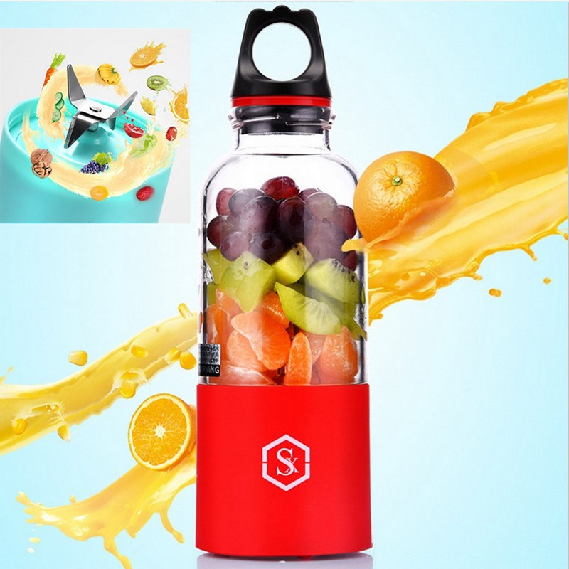 NEWEST Hi-Q 4 LEAF KNIFE 500ml Bingo Mixer Bottle Cup Automatic Mini Fruit Juicer Blender Protein Coffee Shaker Juice Maker