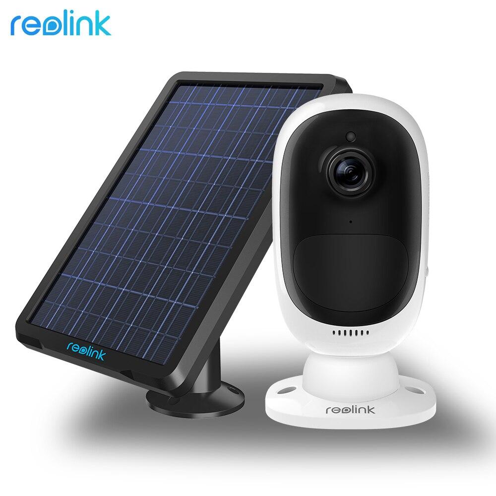 Reolink Argus 2 y panel Solar continua batería recargable 1080 p Full HD al aire libre seguridad WiFi Cámara 130 de ancho vista