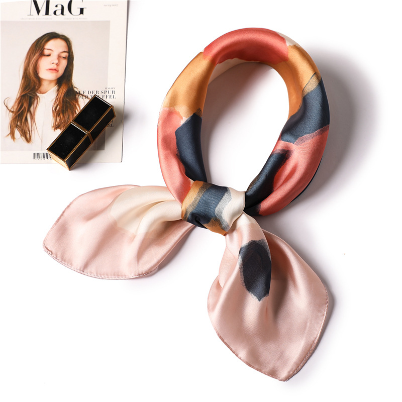 70*70cm 2020 New Women Scarf Silk Hijabs Neck Kerchief Head Hijabs Tie Band Ribbon Foulard Scarves