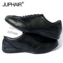 JUP Men Dress Leather Shoes Brand Genuine Leather Formal Fashion Genuine Loafers Flats Shoes High Quality Black White Men Casual