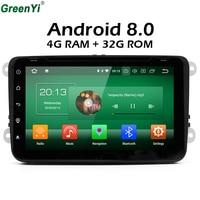 GreenYi 4GB RAM Octa Core 8inch Car Radio DVD Player For VW Volkswagen Passat POLO GOLF