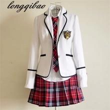 Школьная форма с длинными рукавами для студентов, Япония и Южная Корея, JK, школьная форма для мальчиков и девочек, студенческий костюм