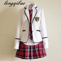 Школьная форма с длинными рукавами для школьников, Япония и Южная Корея, JK, школьная форма для мальчиков и девочек, костюм для студентов