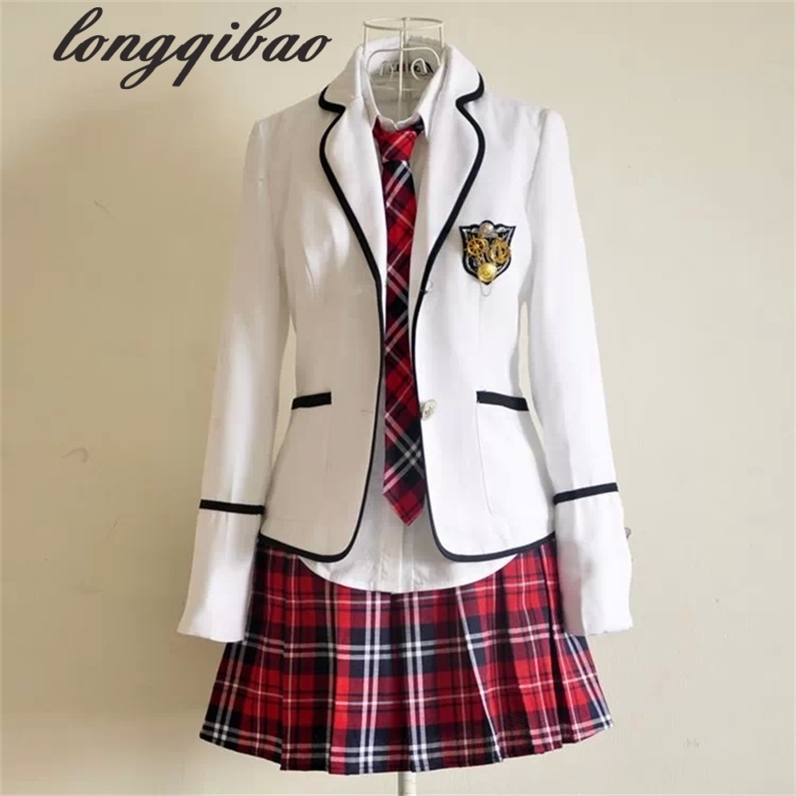 Students long-sleeved school uniforms Japan and South Korea JK uniforms junior high school boys and girls students suit image