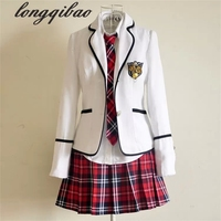 Students long sleeved school uniforms Japan and South Korea JK uniforms junior high school boys and girls students suit