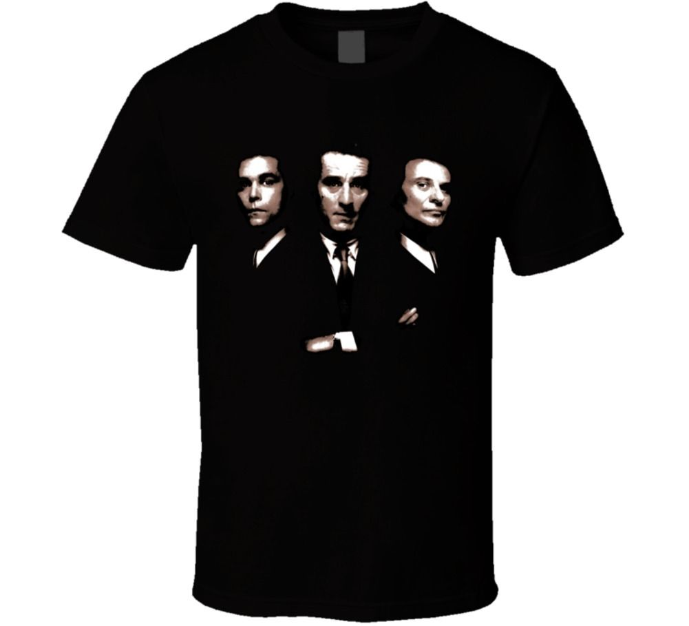 Gildan Goodfellas gangster film De Niro Liotta Pesci classic movie t shirt