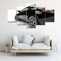 The Sports Car Poster HD Prints Cool Room Wall Decor 5 Pieces Modular Canvas Painting For