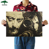 Dlkklb Classic Movie Leon Vintage Kraft Paper Poster Paper Wall Painting Decor Decorative Paintings 51x35.5cm Wall Stickers
