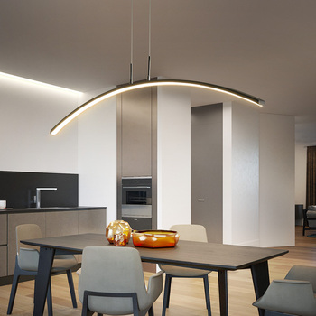 LED dormitorio suspensión luminaria Retro sala de estar ...