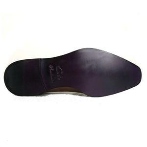 Image 5 - Cie vierkante vlakte teen hele cut patina grijs 100% echt kalfsleer zool ademende mannen schoen bespoke lederen mannen schoen ox509