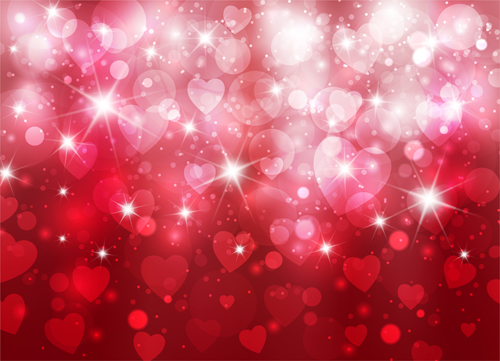 8x10ft Valentines Day Photography Red Heart Bokeh Adult