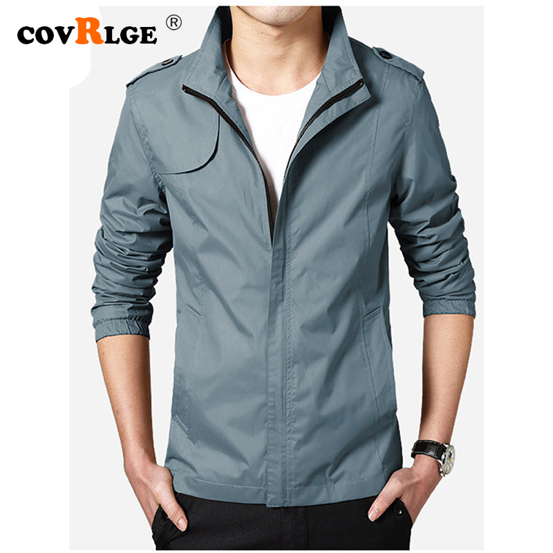 Covrlge Men's Jackets Plus Size 5XL 2019 Men's New Casual Jacket High Quality Spring Regular Slim Jacket Coat Wholesale MWJ152(China)