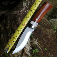 2016 Outdoor Knife Pure Manual 9Cr18Mov Knife Pattern Steel Knife Gift Collection Real Horn Handle